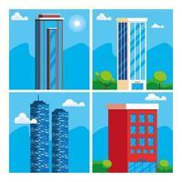 Set Wolkenkratzer