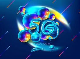 Smartphone 5G-Symbol vektor