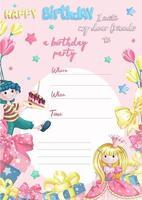 Geburtstagsfeier Einladungsvorlage vektor