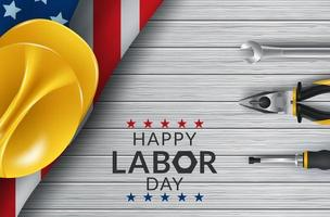 Happy Labor Day tabellverktyg vektor