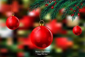 Weihnachten verschwommen Lichter vektor
