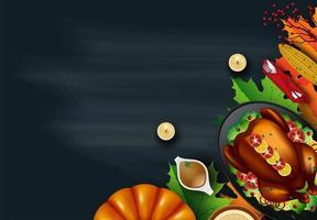 Thanksgiving middag uppifrån