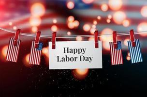 Glad Labor Day flagga vektor