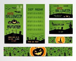 Happy Halloween Einladungen und Banner