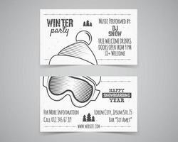 Layout der Winterparty-Broschüre