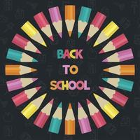 Rundschreiben Sie farbige Bleistiftplakatschablone