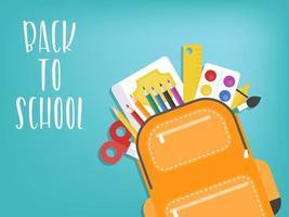 Tillbaka till skolan Ryggsäck med skolmaterial