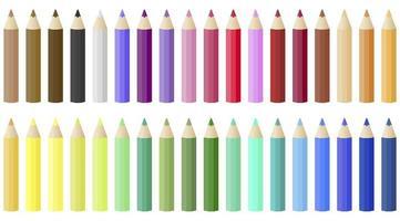 Färgat blyertspaket vektor