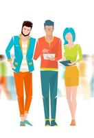 Konzept der Diskussion zwischen jungen Menschen vektor