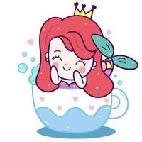 Kleine Meerjungfrau in der Tasse