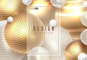 Gyllene glänsande perl tapeter vektor