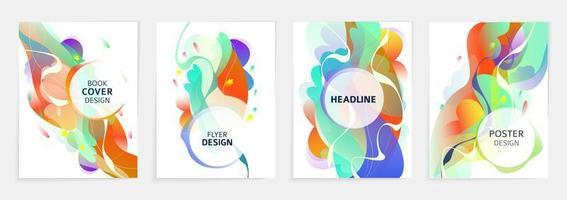 Uppsättning abstrakta reklamblad eller omslagsmönster vektor