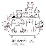 Söta behandla som ett barn djur på soffan