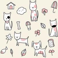 süßes Baby Hund Cartoon - nahtlose Muster vektor