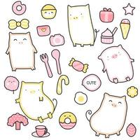 söt baby gris tecknad - sömlösa mönster