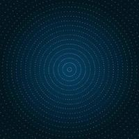 Goldene Punkte des abstrakten Kreises funkeln
