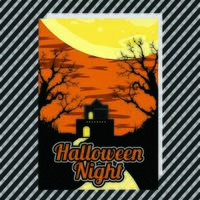 Halloween-festaffisch vektor