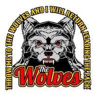 T-Shirt Design Die Wölfe vektor