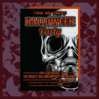 Gasmask Halloween Party inbjudningsreklamblad