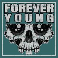 T-Shirt Design-Vorlage für immer jung vektor