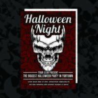 Schlechter Halloween-Party-Einladungs-Flyer vektor