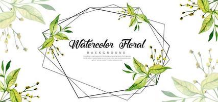 Geometrischer Aquarell-Blumenhintergrund vektor