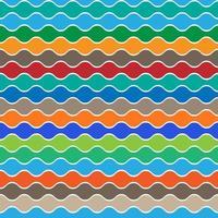Retro nahtlose Muster von Wellen vektor
