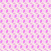 Modischer nahtloser rosa Hintergrund von Würfeln vektor