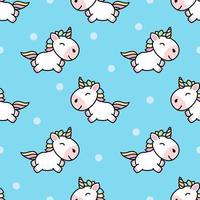 Söt unicorn tecknad seamless mönster