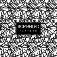 Schwarzweiss-Gekritzel-nahtloser Muster-Hintergrund