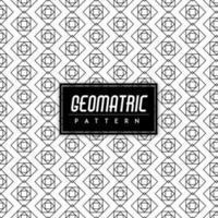 Svartvit geomatrisk sömlös bakgrund vektor