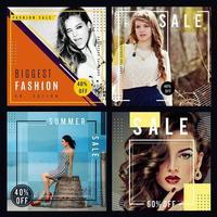 Mode försäljning bakgrund vektor