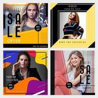 Mode Verkauf Social Media Graphics vektor