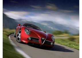 Schnelle Alfa Romeo Spinne vektor