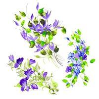 Schönes Aquarell-Blumengesteck vektor