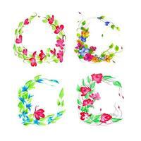 Blomsterarrangemang för vacker vattenfärg vektor