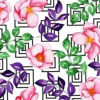 Akvarell Memphis blommig bakgrund