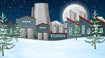 Fabrik i snö scen