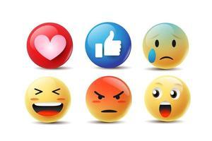 Emoji Gesichter fühlen vektor
