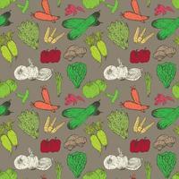 Sömlös modellbakgrund för sunda grönsaker