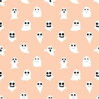 Orange Ghost und Ghoul Seamless Background