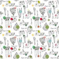 Biohof-Gemüse-nahtloses Muster