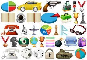 Stor uppsättning diverse föremål