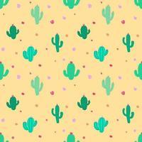 Fiesta Cactus Söt sömlösa mönster