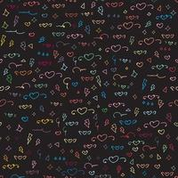 Seamless mönster med gullig hjärta mönster bakgrund