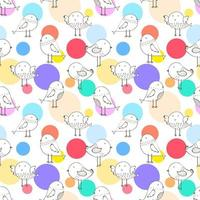Netter moderner Dot Bird Seamless Pattern Background vektor