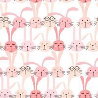 Seamless mönster med härlig kaninbakgrund