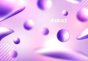 Abstrakter flüssiger Formhintergrund vektor