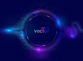 Flüssige Form der Welle im blauen Raumhintergrund vektor