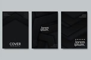 Abstraktes Papierschnitt-Abdeckungsdesign vektor